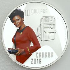 Canada 2016 $10 Star Trek: Uhura, 99.99% Pure Silver Color Proof Coin