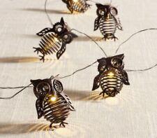 Pier 1 Imports Halloween Fall Metal Owl Glimmer Strings Flexible LED Lights