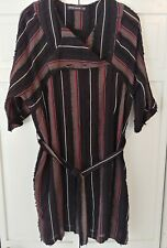 ANTIK BATIK Black/Red/Wh/Gray Stripe Ael Dress Size Large/42