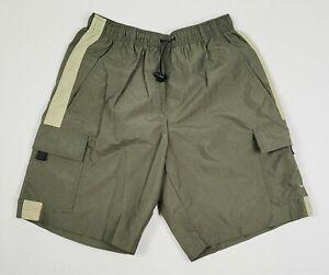 Medium Nike Green Mens Cargo Swim Trunks Board Shorts