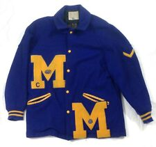 Vintage 1950s Football letterman jacket Michigan State University M  #A8