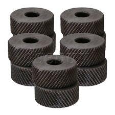 Positive & Negative Knurling Tool Diagonal Knurl Wheel 1mm Pitch Set of 10