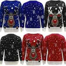 Unisex Kids Boy Girl Christmas Reindeer  Novelty Jumpers