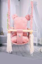 Baby Swing Chair Teddy Child Wood Swing Chair Toy Teddy Bear Shape Swing Toybear