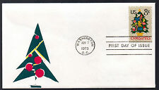 1508 -- Needlepoint Christmas Tree - First Day cover -- Virgil Crow cachet