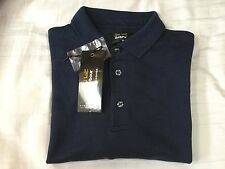 Men's Barbour long sleeve navy blue polo top L
