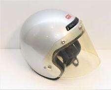 Vintage Fulmer AF 255 Silver Medium Open Face Motorcycle Helmet W / Shield > 3.1