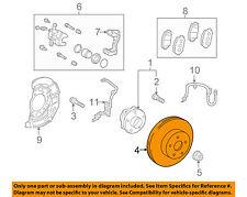 TOYOTA OEM Front Brake-Disc Rotor 4351247040