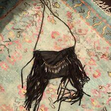 Handmade Leather Fringe Bag Crystal Bullet Embellished Allsaints All Saints