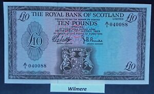 Royal Bank of Scotland £10 (P331) 1969 A/1 1st Prefix  *aUNC*