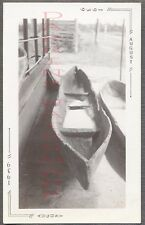 Vintage Photo Wooden Canoe Leaky Boat 687719