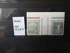 Briefmarken Heuss Spezialsammlung
