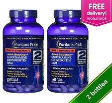 2 X Puritans Pride Triple Strength Glucosamine Chondroitin MSM 180 FREE SHIPPING