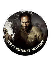 WALKING DEAD RICK Cake Image Personalised Birthday Decoration Party Topper