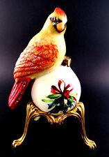 LENOX WINTER GREETING PORCELAIN SALT PEPPER SHAKER BIRD SITTING ON ORNAMENT (E5)