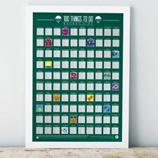 Gift Republic Scratch Off Bucket List 100 Things To Do Poster Challenge Gift