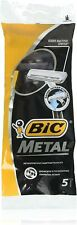 New Bic Metal Men's Disposable Shaving Razors, 5-Count x 1 Pack