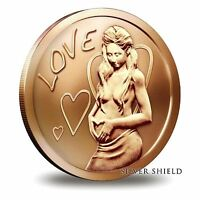 2014 Silver Shield Love 1 oz Copper Round | Direct From Mint Tube