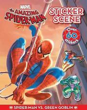 NEW MARVEL SPIDERMAN STICKER SCENE with 60 STICKERS v Green Goblin