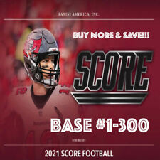 2021 Panini Score Football - Base (#1-300) - You Pick! Constantly Updated!
