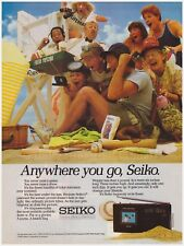 Original 1985 Seiko Flat Screen Portable Television Vintage Print Ad