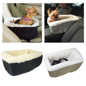 Dog Car Carrier Pet Booster Seat Mat Plush Crate for Car Armrest Cage House