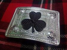 TC Men's Kilt Belt Buckle Irish Shamrock/Scottish Celtic Border Kilt Belt Buckle
