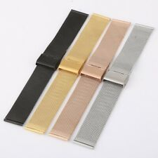 Stainless Steel Milanese/Mesh Watch Strap Bracelet  Clasp 12mm - 24mm UK SELLER