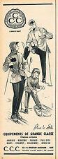 PUBLICITE ADVERTISING 124  1954  CCC   vetements de ski  par BRENNER