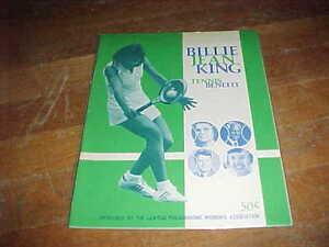 1974 Billie Jean King Benefit Tennis Program Billie Jean King Cover