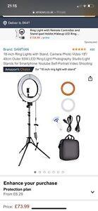 """Neewer 14"""" Inner 18"""" Outer LED Ring Light Kit"""