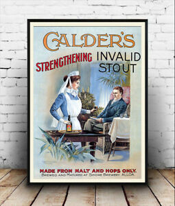 Calders Invalid stout :  vintage Beer Advertising poster reproduction.