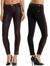 NWT $374 DL1961 Emma Leather Front Legging Skinny Jeans Size 27