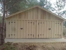 Doppelgarage Holzgarage mit Satteldach Fertiggarage Carport  6m x 6m  Holz