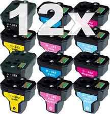 12x XL PATRONE für HP-363 C5180 C6250 C7180 C7280 C8180 3110 3210 3310 8230 8250