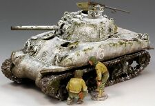 KING & COUNTRY BATTLE OF THE BULGE BBA026 U.S. WOUNDED SHERMAN TANK MIB