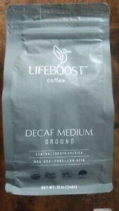 Lifeboost Coffee Organic Low Acid Medium Roast Swiss Water Decaf Coffee Ground