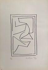 Mortensen Richard sérigraphie signée datée 66 art abstrait Copenhague Bauhaus