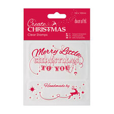 MERRY CHRISTMAS & HANDMADE BY - DOCRAFT'S CREATE CHRISTMAS - CLEAR STAMP SET