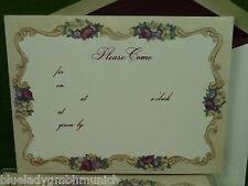 Karten 10er BOX Einladungskarten + Kuvert ✿ Bouquett ✿ Cards & Envelopes