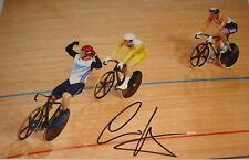 Sir Chris Hoy Firmado 12x8 Juegos Olímpicos de Londres victoria de pista 2012, 100% Original