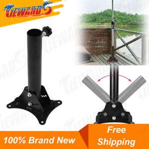 Mount Umbrella Holder for Patio Garden Table Deck Wooden Umbrella Base Stand Set