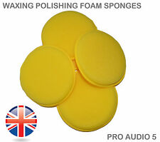 6x Wax Foam Sponge Applicator Pads - Waxing Valet Polishing Car Van Truck UK