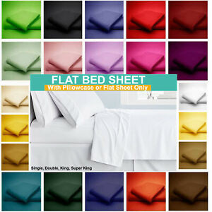 Flat Sheet Bed Sheets 50% Poly 50% Cotton Single Double King Super King Size