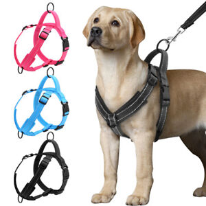 No Pull Front Leading Dog Harness Reflective Soft Mesh Breathable Strap Harness