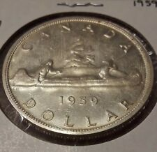 1959 Canada Silver Dollar Coin
