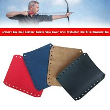 New listing Archery Bow Real Leather Handle Skin Cover Grip Protector Non-Slip Compound YU