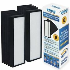 Veva Premium 2 Hepa Filters and 8 Pack of Pre-Filters Compatible with Air