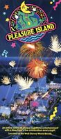 1991 Pleasure Island Disney World Fold Out Guide To Clubs & Attractions