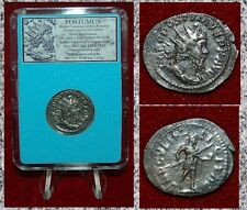Ancient Roman Empire Coin POSTUMUS on Obverse and Reverse Silvered Antoninianus